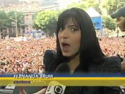 RJTV fala da participa��o de Fernanda Brum na Marcha para Jesus 2011 (RJ)