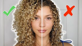 Video CURLY HAIR STYLING MISTAKES TO AVOID + TIPS FOR VOLUME AND DEFINITION (AIR-DRY) MP3, 3GP, MP4, WEBM, AVI, FLV Agustus 2019
