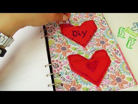 Filofax Ideen   Herzaufbewahrung für Notizzettel, Büroklammern oder Sticker selber basteln   Origami
