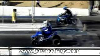 Yamaha Banshee 350 Drag Racing Barona Drag Strip 1-5-2013