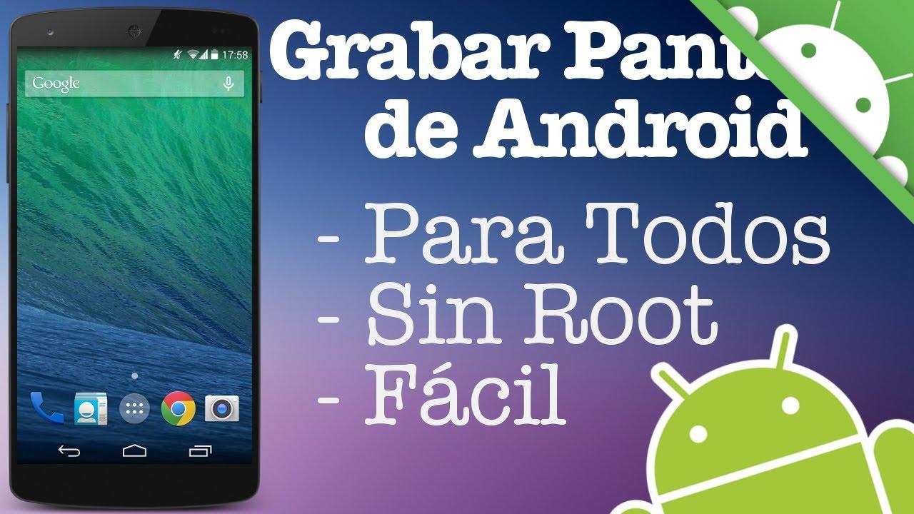 Descargar Como Grabar la Pantalla de Android para Celular  #Android