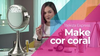 Beleza Express - Make cor coral