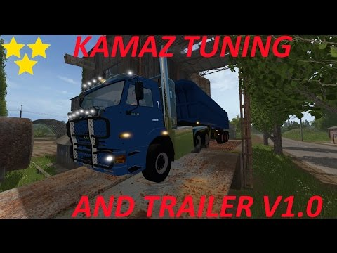 Kamaz Tuning and trailer v1.0