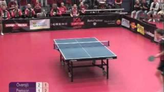 Mistrzowskie zagranie w tenise stołowym