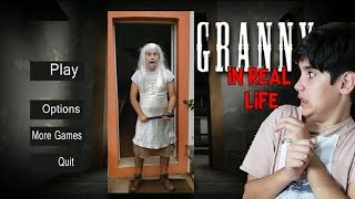 GRANNY HORROR GAME IN REAL LIFE!!! - GRANNY NA VIDA REAL