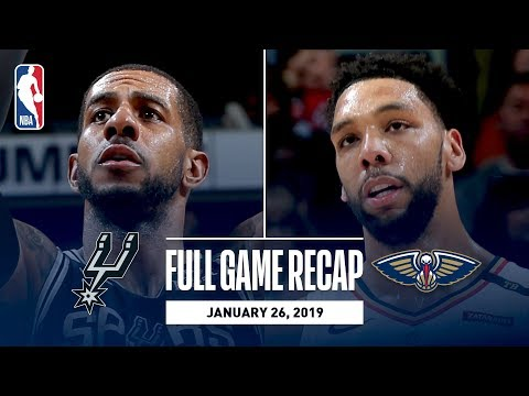 Video: Full Game Recap: Spurs vs Pelicans | Gay & Aldridge Post Double-Doubles