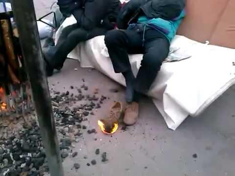 Un Borracho con el pie en llamas