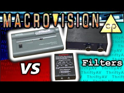 Macrovision Copyguard copy protection vs 3 Video Stabilizers / Clarifiers