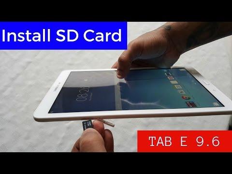 Samsung Galaxy Tab E 9.6 How To Insert Micro Sd Card