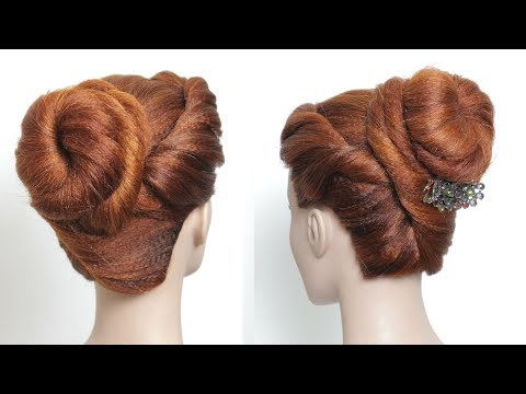 Hairstyles for long hair - Beautiful Juda Hairstyle. Party High Bun For Long Hair