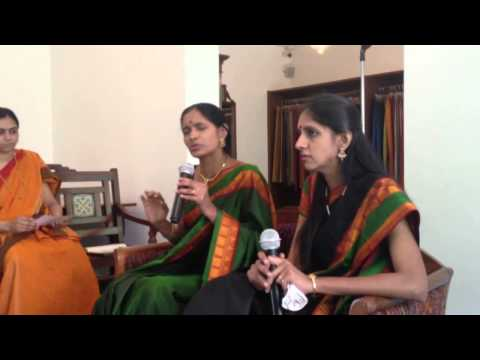 artists - A wonderful and candid 'Meet the Artist' interaction with Ranjani-Gayatri : Ra Ga. A big thank you to Sarangi, the Kanjivaram Sari Store for sponsoring the e...