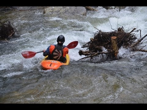 Kayaking on the West Fork of the Tuckasegee River in North Carolina 2014
