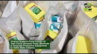 VSF's COVID-19 Task Force Donates Food and Medical Consumables to Citizens of Delta State