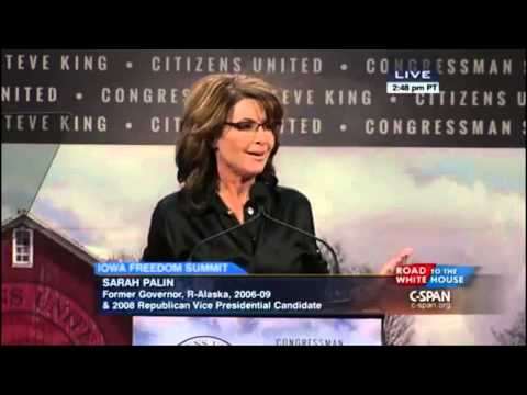 Palin - Sarah Palin today in Iowa at the