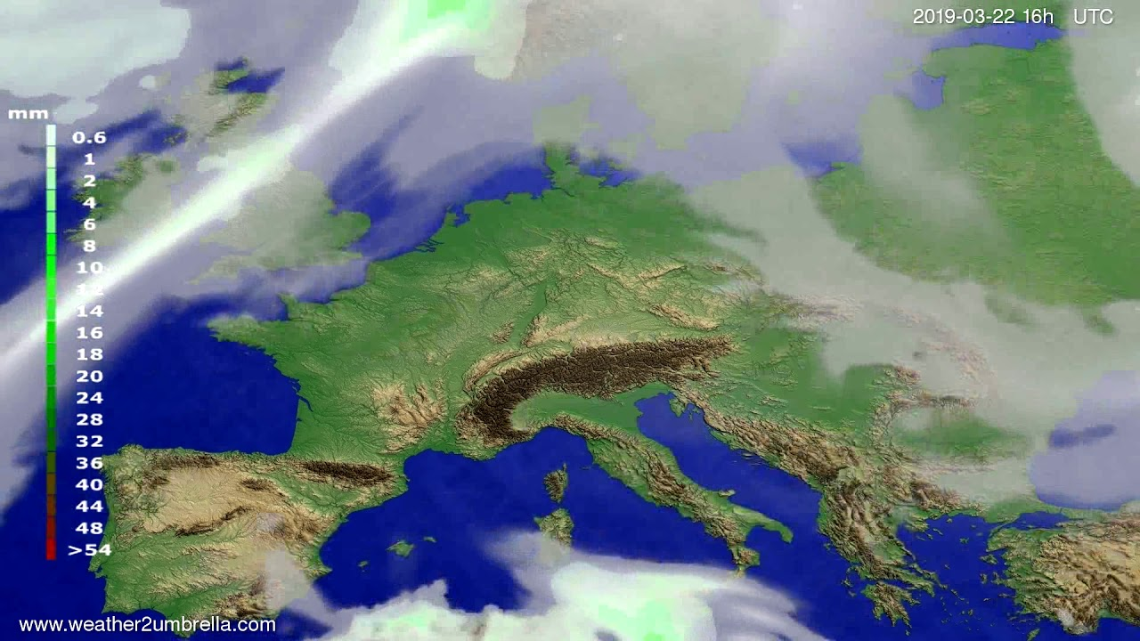 #Weather_Forecast// Precipitation forecast Europe 2019-03-21