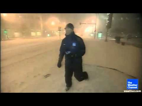 Weatherman Freaks out over blizzard