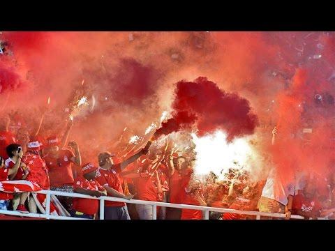 El CARNAVAL del Baron Rojo Sur Colombia ante Atlético Nacional 05.03.2017 - Baron Rojo Sur - América de Cáli