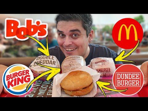 O HAMBÚRGUER MAIS BARATO - McDonald's, Burger King, Bob's e Dundee Burger