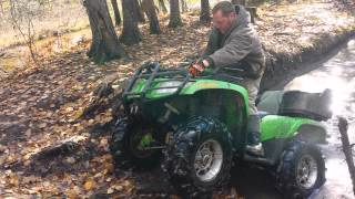 7. Dad and Ryan vs Mudhole 05 arctic cat 500 polaris 700