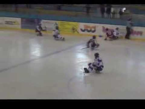 HC Sparta Praha sledge hokej vs Karlovy Vary