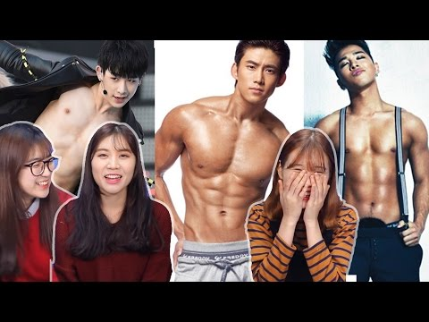 Korean Girls React To Sexiest Male Idol K-Pop Fan-Cams [Korean Bros]