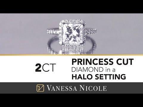 Micro Pavé Engagement Rings | Tiffany's Princess Cut Engagement Ring | Vanessa Nicole Jewels