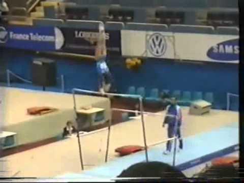 Mondiali di Losanna 1997 - 2^ parte esercizio alle parallele