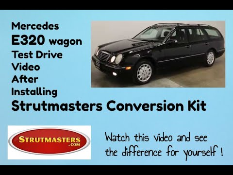 Mercedes E320 4Matic Wagon With Rear Air Spring And Shock Replacement By Strutmasters / Ride Along