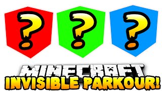 Minecraft - INVISIBLE PARKOUR CHALLENGE! (Hologram Parkour) - w/PrestonPlayz