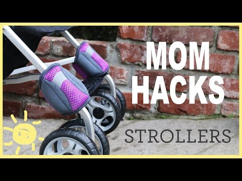 這位媽媽把束帶綁在嬰兒車前輪上讓人看不懂,但是最後顯示出的超天才功能實用到媽媽們都爭相這樣做!