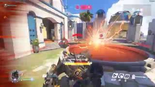 Roadhog kamikaze's with enemy DVA's ult and kills whole team | Overwatch