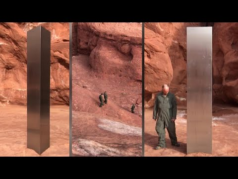 How Did a 12-Foot-Tall Silver Monolith End Up in the Desert?