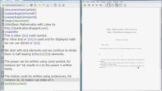 LaTeX Tutorial: How To Write Basic Mathematics In LaTeX