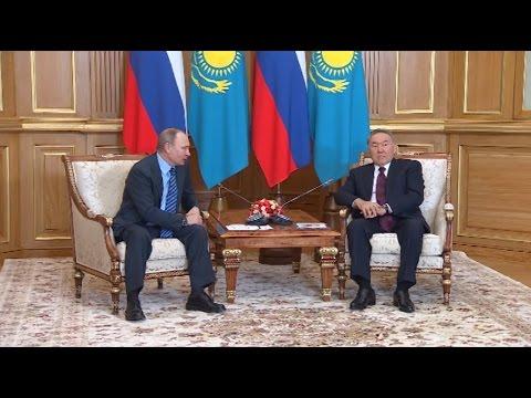 Путин поблагодарил Назарбаева за организацию сирийских переговоров в Астане