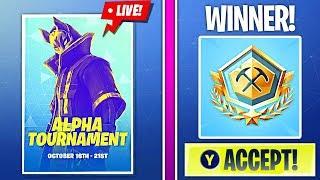 *WINNING* ALPHA TOURNAMENT (PRO PLAYER)!   🔥 Fortnite Battle Royale Live 🔥