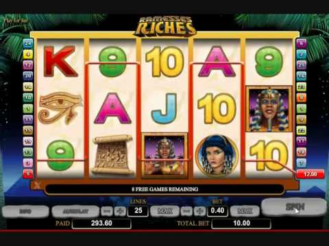 Ramesses Riches Slot Bonus .wmv