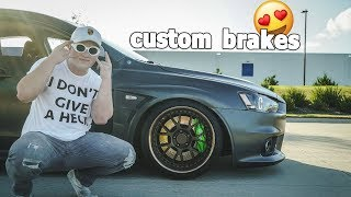 CUSTOM brakes for the Evo X that are cooler than yours by Evan Shanks
