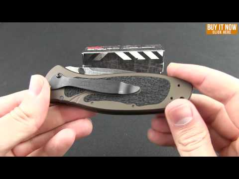"Kershaw Blur Tanto Assisted Opening Knife Black (3.375"" Black Serr) 1670TBLKST"