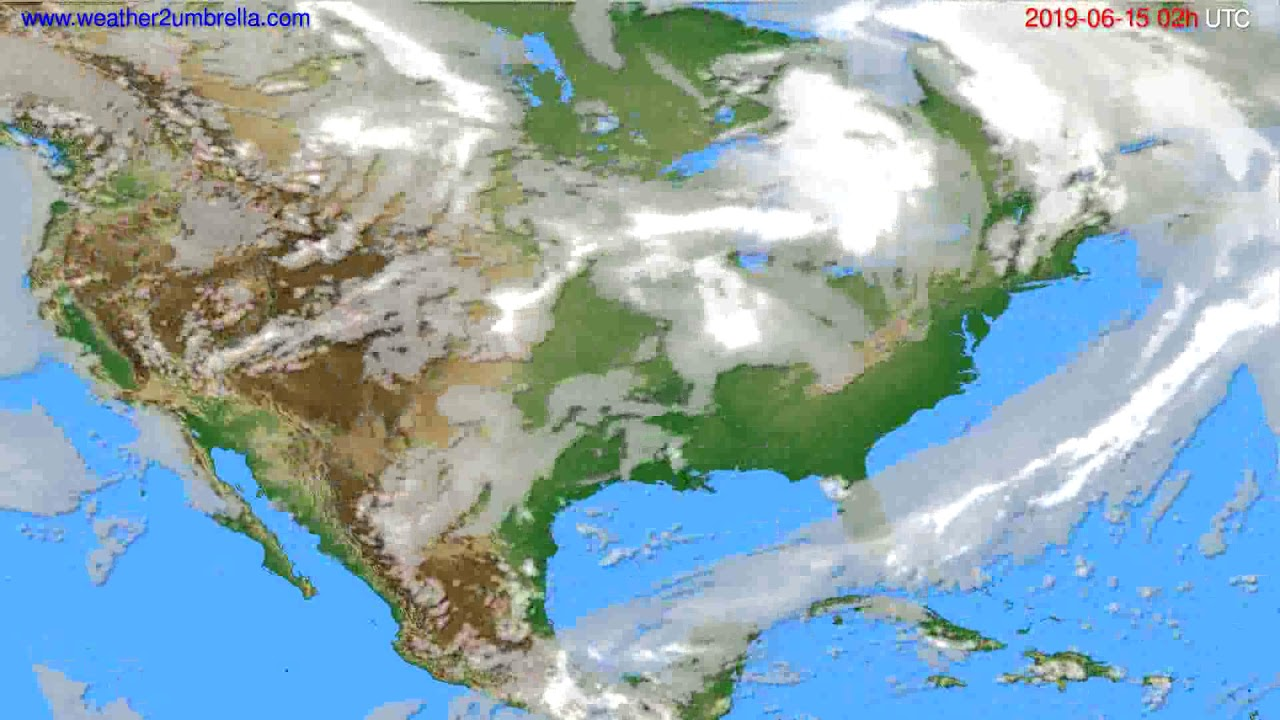 Cloud forecast USA & Canada // modelrun: 12h UTC 2019-06-12