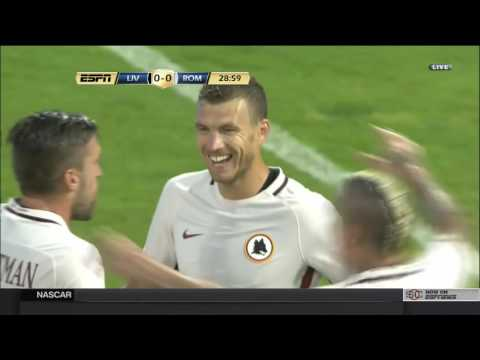 Edin Dzeko goal vs Liverpool