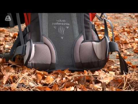 Видео о Велосипедный рюкзак Deuter TRANS ALPINE 26 SL aubergine-fire