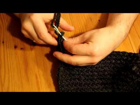 Schal mit Strickrahmen stricken Teil 06/07: Vernähen