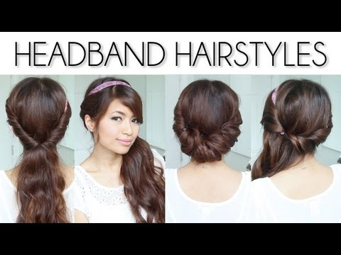 ♥ Easy Everyday Headband Hairstyles + GIVEAWAY