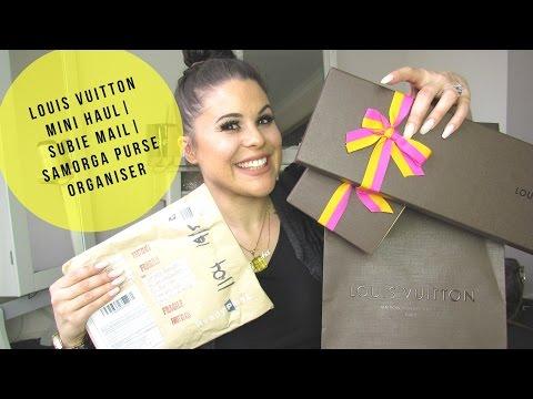 Louis Vuitton Mini Haul   Subie Mail   Samorga Purse Organiser видео
