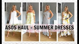 """Part 3 of my summer 2017 fashion week, today- summer dresses haul and try on. I am 5'5"""" and around 147lbs, I buy dresses in..."""