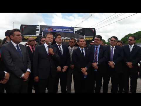 Presidente da OAB, Claudio Lamachia, em ato de desagravo em favor de advogado agredido por policiais - PARTE 1