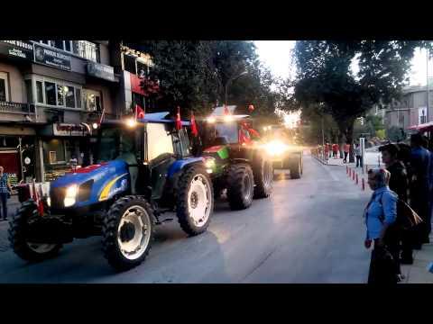 Konya'da Traktörlerden Teröre Tepki Konvoyu