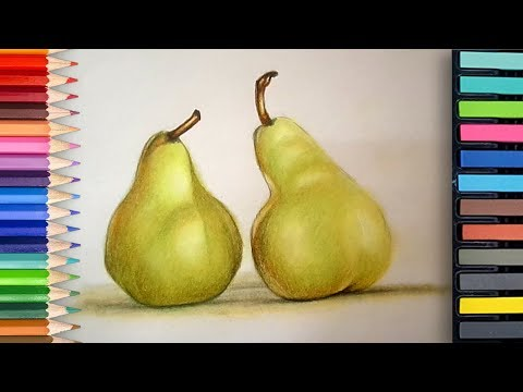 how to draw a realistic pear