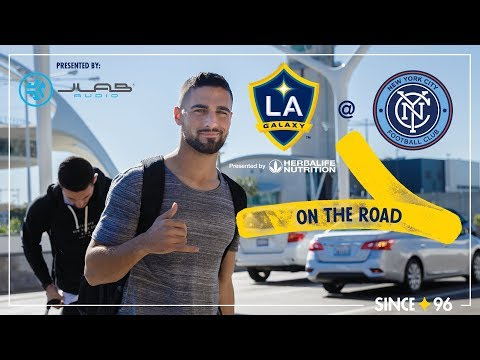 Video: LA Galaxy travel to the Big Apple | On the Road - presented by JLab Audio