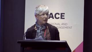 "Lindie Clark presents ""The Macquarie Perspective: The Impact of PACE on Employability"" at the PACE Employability Forum.Lindie is the Academic and Programs Director of PACE at Macquarie University."